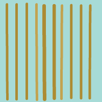 Stripes Turquoise Gold Wallpaper Panel