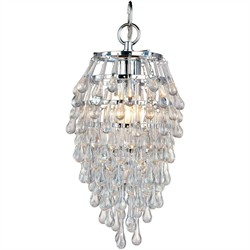 Crystal Teardrop Mini Chandelier AF Lighting 4950-1H