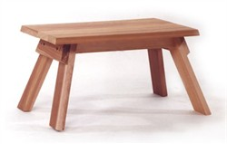 Red Cedar Stool - All Things Cedar CF18U