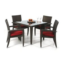 Rattan 5-PC Patio Table Set - All Things Cedar PR35-5