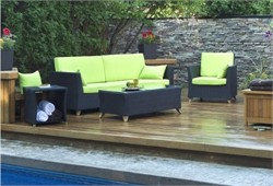 Rattan 4-PC Patio Set - All Things Cedar PR90-SET (Available in Various Colors)
