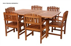Teak Wood Butterfly Extension Table - All Things Cedar TD72