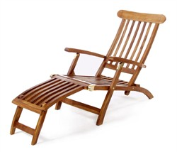 Teak Wood 5 Position Steamer Chair - All Things Cedar TF53