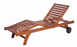 Teak Wood Multi-Position Chaise Lounger - All Things Cedar TL78