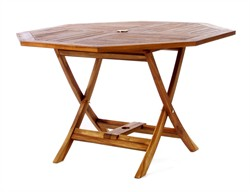 Teak Wood Octagon Folding Table - All Things Cedar TO48
