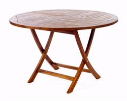 Teak Wood Round Folding Table - All Things Cedar TR48