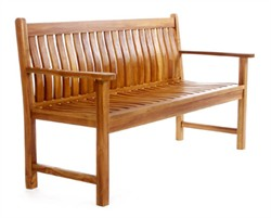 Teak Wood Wave Bench - All Things Cedar TW80