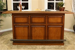 "American Heritage Kokomo Vintage Oak 84"" Bar 600006VO-SS (Shipping Included)"