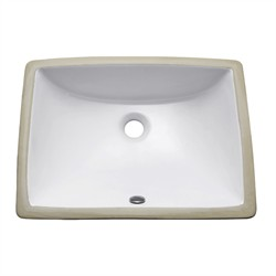 20' White Rectangular Undermount Vitreous China Sink - Avanity CUM20WT-R (Shipping Included)