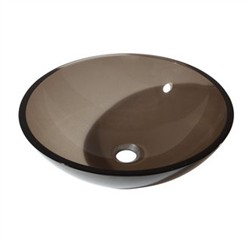 Tempered Glass Vessel in Brown Finish - Avanity GVE420BN (Shipping Included)