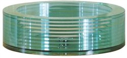 Tempered Segmented Round Glass Vessel  - Avanity GVE450RD (Shipping Included)