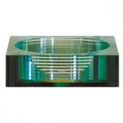 Tempered Segmented Square Glass Vessel  - Avanity GVE450SQ (Shipping Included)