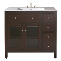 "Lexington 36"" Vanity Only (Light Espresso) - Avanity LEXINGTON-V36-LE (Shipping Included)"