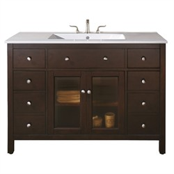 "Lexington 48"" Light Espresso Vanity Only - Avanity LEXINGTON-V48-LE (Shipping Included)"