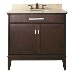 "Madison 36"" Vanity Only in Light Espresso - Avanity MADISON-V36-LE (Shipping Included)"