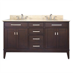 "Madison 60"" Vanity Only in Light Espresso - Avanity MADISON-V60-LE (Shipping Included)"