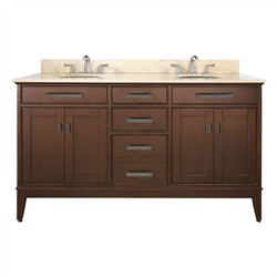 "Madison 60"" Tobacco Vanity w/ Black Granite  - Avanity MADISON-VS60-TO-A (Shipping Included)"
