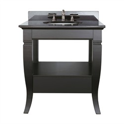 Milano Vanity Set in Black Finish - Avanity MILANO-VS30-BK-A (Shipping Included)