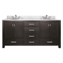 "Modero 72"" Vanity Only in Espresso Finish - Avanity MODERO-V72-ES (Shipping Included)"