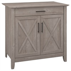Key West Laptop Storage Credenza in Washed Gray - Bush Furniture KWS132WG-03