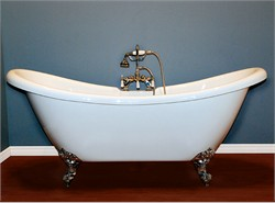 "Cambridge-ADES-68 Acrylic Double Ended Slipper Bathtub 68"" X 28"""