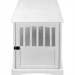 White Pet Crate End Table - Casual Home 600-41