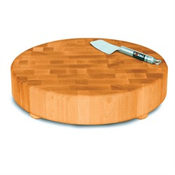 Round Slab End Grain Chopping Block w/ Feet - Catskill Craftsmen 1315