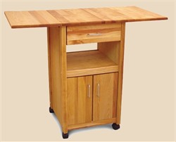 Drop Leaf Cart with Enclosed Cabinet - Catskill Craftsmen 7222
