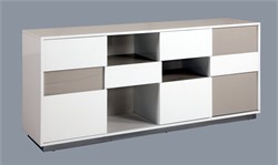 Contemporary 2 Tone Buffet w/Open Storage - Chintaly GINA-BUF