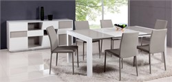 Contemporary Lacquer Parson Extendable Dining Table - Chintaly GINA-DT