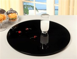 Black Lazy Susan - Chintaly LAZY-SUSAN-24-BLK