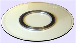 "Solid Surface Lazy Susan 12"" - Chintaly LAZY-SUSAN-TR12"