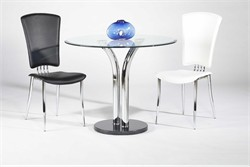 T-311 Dining Glass Top Table Chintaly T-311-DT