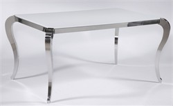 Teresa Starphire Glass Dining Table Chintaly TERESA-DT