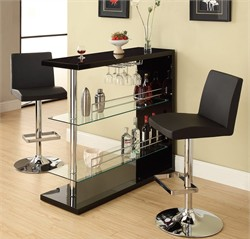 Contemporary Black Bar Table - Coaster 100165