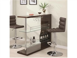 Contemporary Cappuccino Bar Table - Coaster 100166