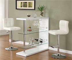 Contemporary White Bar Table - Coaster 100167