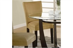 Casual Cappuccino Parsons Dining Chair in Gold - Coaster 101492 (Set of 2)