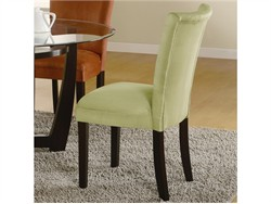 Casual Cappuccino Parsons Dining Chair in Green - Coaster 101495 (Set of 2)