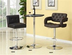 "Contemporary Brown Adjustable Height 29"" Bar Stool - Coaster 102556"