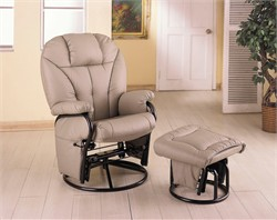 Bone Glider and Ottoman - Coaster 2645