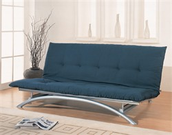 Contemporary Silver Futon Frame - Coaster 300008