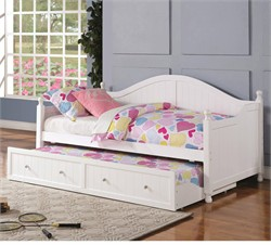 White Daybed w/ Trundle - Coaster 300053