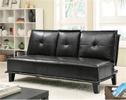 Contemporary Black Sofa Bed - Coaster 300138