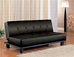 Black Vinyl Foam Sofa Bed - Coaster 300163