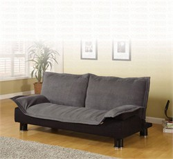 Contemporary Grey Futon Sofa Bed - Coaster 300177