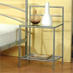 Contemporary Silver Nightstand - Coaster 300222