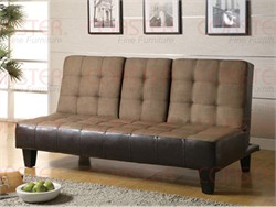 Transitional Two-Tone Brown Sofa Bed - Coaster 300237