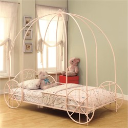 Massi Traditional Pink Carriage Bed - Coaster 400155T