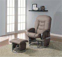 Beige Glider and Ottoman - Coaster 600228